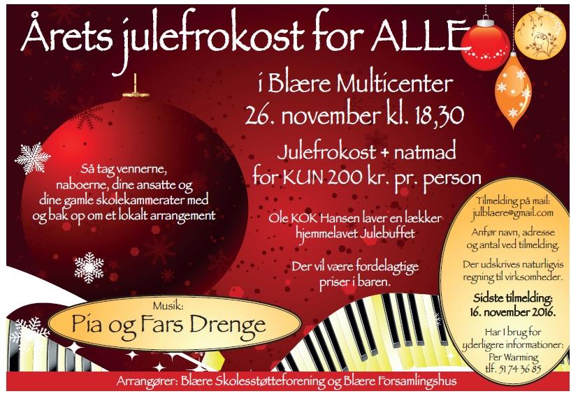 Blaere.dk - Julefrokost | Blære og Omegn By-portal